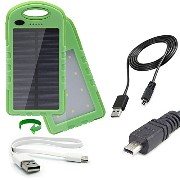 portable 防水 ソーラー power bank charger with デュアル USB 2 Amp charge ports and a 22Wh バッテリー capacity デザイン for the Nikon...