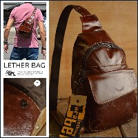 本革 Vintage ボディーバッグ メンズ 7998760 D/BROWN LEATHER【ALI】■05160831【1609s-BAG】【tu】