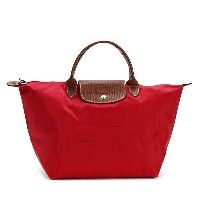 LONGCHAMP 1623-089-270LE PLIAGEロンシャン ル・プリアージュ折りたたみトートバッグナイロン×型押レザー RED/PK