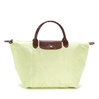 LONGCHAMP 1623-089-C60LE PLIAGEロンシャン ル・プリアージュ折りたたみトートバッグナイロン×型押レザー LIME