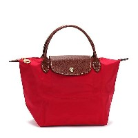 LONGCHAMP 1621-089-270LE PLIAGEロンシャン ル・プリアージュ折りたたみトートバッグナイロン×型押レザー RED/PK