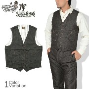 SUGAR CANE & Co.(シュガーケーン) MFSC NOS BROWN CANVAS CONTINENTAL VEST キャンバス ベスト SC13604