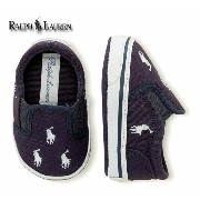 【送料無料/沖縄・一部離島除く】Ralph Lauren(ラルフローレン) BAL HARBOUR REPEAT LAYETTE SOFT SOLE Navy Canvas/White Ponies バ...