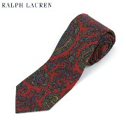 POLO by Ralph Lauren Silk Necktie (RED) US ポロ ラルフローレン シルク ネクタイ ペイズリー