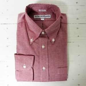 individualized shirts インディビジュアライズドシャツ [ls][chambray][standard][red]