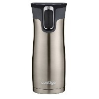 Contigo Autoseal West Loop Stainless Steel Travel Mug with Easy Clean Lid, 16-Ounce, Stainless Steel保温マグボトル [並行輸入品]