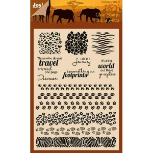 【6410-0435】Joy! Crafts/ジョイ・クラフツ/Clear Stamps/クリアスタンプ/Out of Africa/Animal prints スクラップブッキング ダイカット...