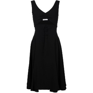 J.W.Anderson - Sleeveless Dress With Cutout and Lace-up Front - women - ポリエステル/アセテート - 10