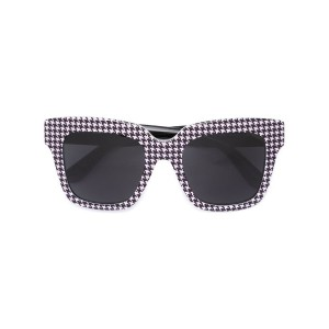 Dolce & Gabbana - houndsthooth check sunglasses - women - アセテート - ワンサイズ