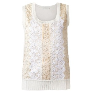Martha Medeiros - knit tank top - women - リネン/ビスコース - M