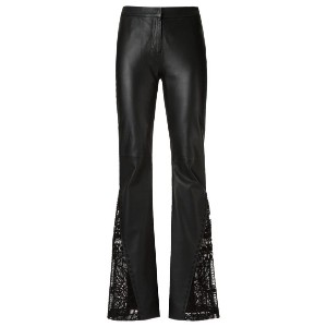 Martha Medeiros - leather flared trousers - women - レザー - 40