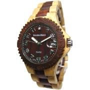 テンス 時計 メンズ 腕時計 木製 Tense Natural Two Tone Sports Wood Watch G4100MS Mens