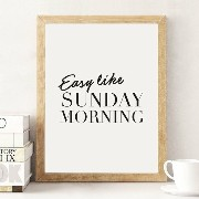 LOVELY POSTERS | SUNDAY MORNING (white) | A3 アートプリント/ポスター