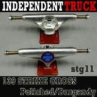 INDEPENDENT/インデペンデントトラック139 STAGE11 STRIKE CROSS POLISHED BURGUNDY TRUCKS STANDARD INDY/インディー...