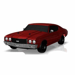 1/10 EP 4WD 1970シボレーシェベル SS454 L56 レディセット(Cranberry Red)【34053T1】 京商 [KC 34053T1 4WD 1970 シボレーシェベルSS...