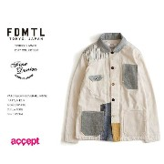 fdmtl fundamental PATCHWORK COVERALL RINSE Y