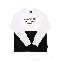 【SALE/46%OFF】BEAMS T CHARI&CO for Keith Haring / バイトーン クルーネック スウェット ビームスT カットソー【RBA_S】【RBA_E】【送料無料】