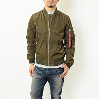 ALPHA (アルファ) ライトMA-1 ALPHA INDUSTRIES TA1051 OLIVE:119 Lサイズ