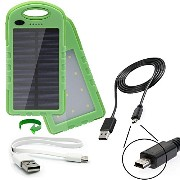 portable 防水 ソーラー power bank charger with デュアル USB 2 Amp charge ports and a 22Wh バッテリー capacity デザイン for the Motorola...