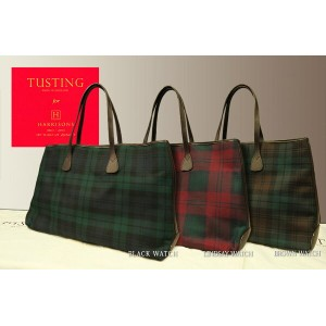 """"""" TUSTING for HARRISONS """"Bythorn Tote Bag タスティング×ハリソンズ 限定バイソーン ( バイソン ) タータンチェックトートバッグ"""