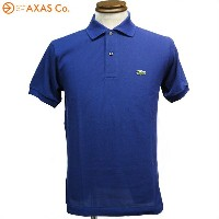 【plokh】 LACOSTE (ラコステ) Made in France LACOSTE L1212L Col.コバルトブルー Size:2[ポロシャツ 送料無料][父の日 シャツ こだわり]