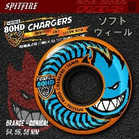 SPITFIRE ウィール 80HD CHARGERS CONICAL ORANGE 54mm/56mm/58mm 【スケートボード ソフト ウィール】【スピットファイア】【日本正規品】【あす楽】