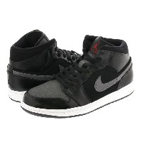 NIKE AIR JORDAN 1 MID PREMIUM ナイキ エア ジョーダン 1 ミッド プレミアム BLACK/DARK GREY/WHITE/GYM RED