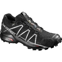サロモン Salomon メンズ ランニング シューズ・靴【Speedcross 4 GTX Trail Running Shoe】Black/Black/Silver Metallic-x