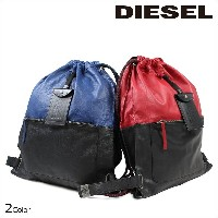 DIESEL ディーゼル バッグ リュック バックパック TO TWICE BACKPACK ブルー レッド メンズ [N10]