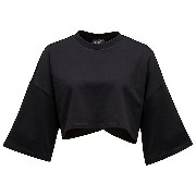 プーマ CROPPED CREW NECK T-SHIRT ウィメンズ Cotton Black
