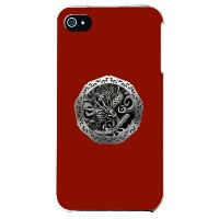 【送料無料】 銀龍 赤 (クリア) design by DMF / for iPhone 4S/SoftBank 【Coverfull】【ハードケース】iphone 4s ケース iphone 4s...