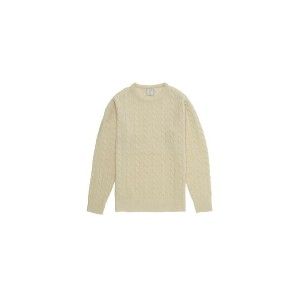CABLE CREW NECK KNIT (MG-KN05) MR.GENTLEMAN(ミスタージェントルマン)
