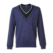 Raf Simons X Fred Perry contrast neck jumper