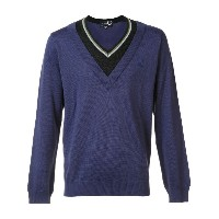 Raf Simons X Fred Perry - contrast neck jumper - men - アクリル/ウール - 44