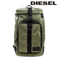 DIESEL ディーゼル バッグ リュック バックパック ONE WAY REEFF BACKPACK グリーン メンズ [1/12 再入荷]