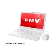 FMVA45A3W【税込】 富士通 15.6型ノートパソコン FMV LIFEBOOK AH45/A3 プレミアムホワイト (Office Home&Business Premium 付...