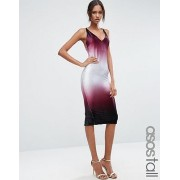 ASOS エイソス TALL NIGHT Ombre Velvet Midi Bodyon Dress ドレス ワンピース