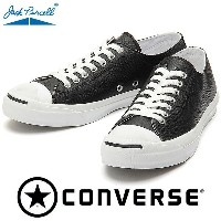 CONVERSE JACK PURCELL EMBOSSNAKE M LEATHER ブラック