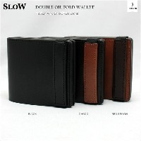 SLOW(スロウ)DOUBLE OIL FOLD WALLET 3color ダブルオイルホールドウォレット