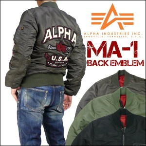 ALPHA (アルファ) MA-1/BACK EMBLEM -TIGHT JACKET- TA0112 【送料無料】