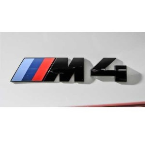 """BMW純正 """"M4"""" エンブレム(ブラック) Competition package"""
