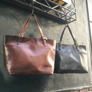 VASCOLEATHER TRAVEL TOTEBAG - LARGE Hand made in Japan