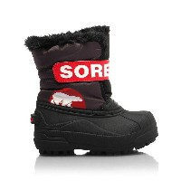 ★SOREL 〔ソレル ジュニアスノーブーツ〕 Children's Snow Commander NC1877/089 〔DARK GREY BRIGHT RED〕〔z〕
