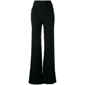Andrea Marques - high waist flared trousers - women - アセテート/ビスコース - 40