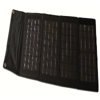 40-ワット Folding Monocrystalline ソーラー Panel with Laptop Charger Adaptors 「汎用品」(海外取寄せ品)