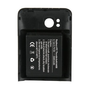 Naztech Extended バッテリー for HTC Thunderbolt - 2600mAh - バッテリー - Retail パッケージング - ブラック 「汎用品」(海外取寄せ品)
