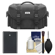 Nikon 5874 デジタル SLR Camera ケース - Gadget Bag with EN-EL14 バッテリー + Cleaning キット for D3100, D3200,...