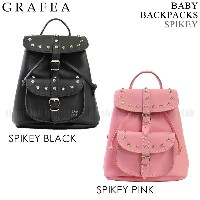 GRAFEA グラフィア バッグ BABY BACKPACKS SPIKEY BLACK PINK リュック デイパック スパイク スタッズ 鋲 ベイビー バックパック 全2色 ハンドバッグ...