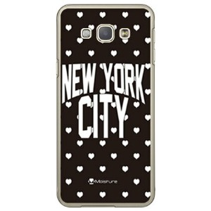 【送料無料】 NYC ホワイトハートドット (クリア) design by Moisture / for Galaxy A8 SCV32/au 【SECOND SKIN】galaxy a8 ケース...