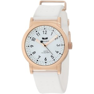 ベスタル 時計 レディース 腕時計 Vestal Women's ALPU008 Alpha Bravo Rubber White PU Rosegold Watch
